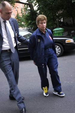 21 August 2012 - New York, NY - U.S. Open tennis umpire Lois Goodman, 70, was arrested at her New York hotel and charged with murdering her husband in Los Angeles. Photo Credit: John Marshall Mantel/Sipa USA (Newscom TagID: sipaphotosthree695534.jpg) [Photo via Newscom]