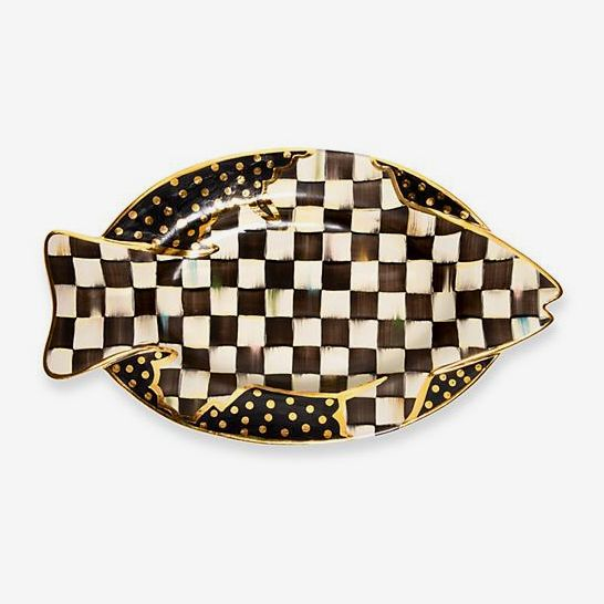 MacKenzie-Childs Limited-Edition Courtly Check Dinner Fish Platter