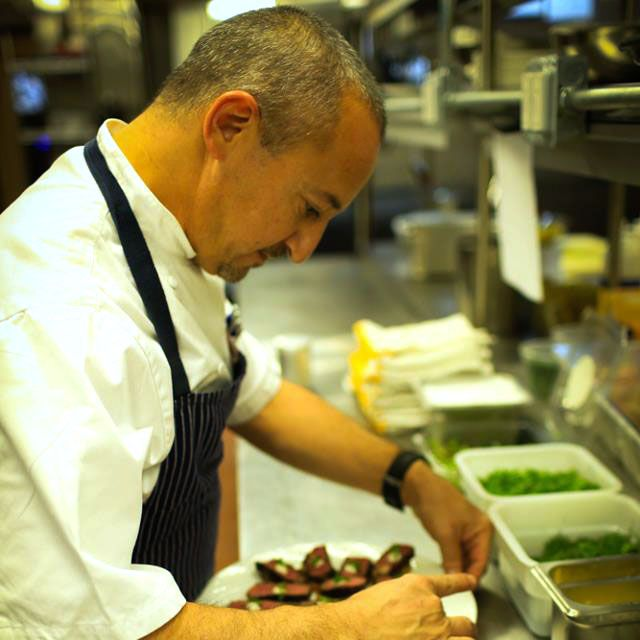 Pims, at work on the Sea Fire Grill line.