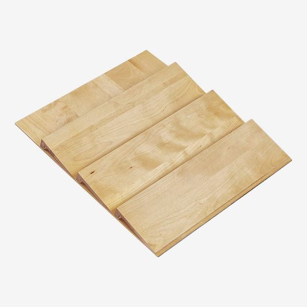 Trim-to-Fit Wooden Spice Drawer Storage Organizer Insert