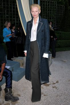 VERSAILLES, FRANCE - MAY 14:  Tilda Swinton attends the Chanel 2012/13 Cruise Collection at Chateau de Versailles
