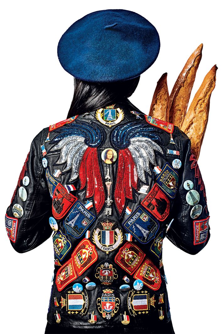 This Paris-themed work by Dries Van Noten is one of 25 embellished motorcycle styles for auction.