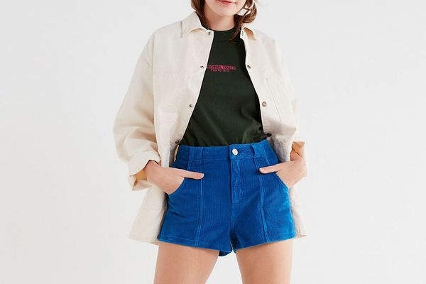 UO High-Rise Corduroy Short