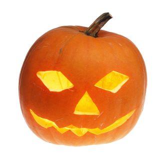 Pumpkin head with face, Halloween