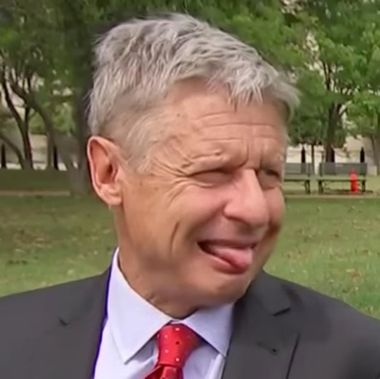 Image result for gary johnson tongue