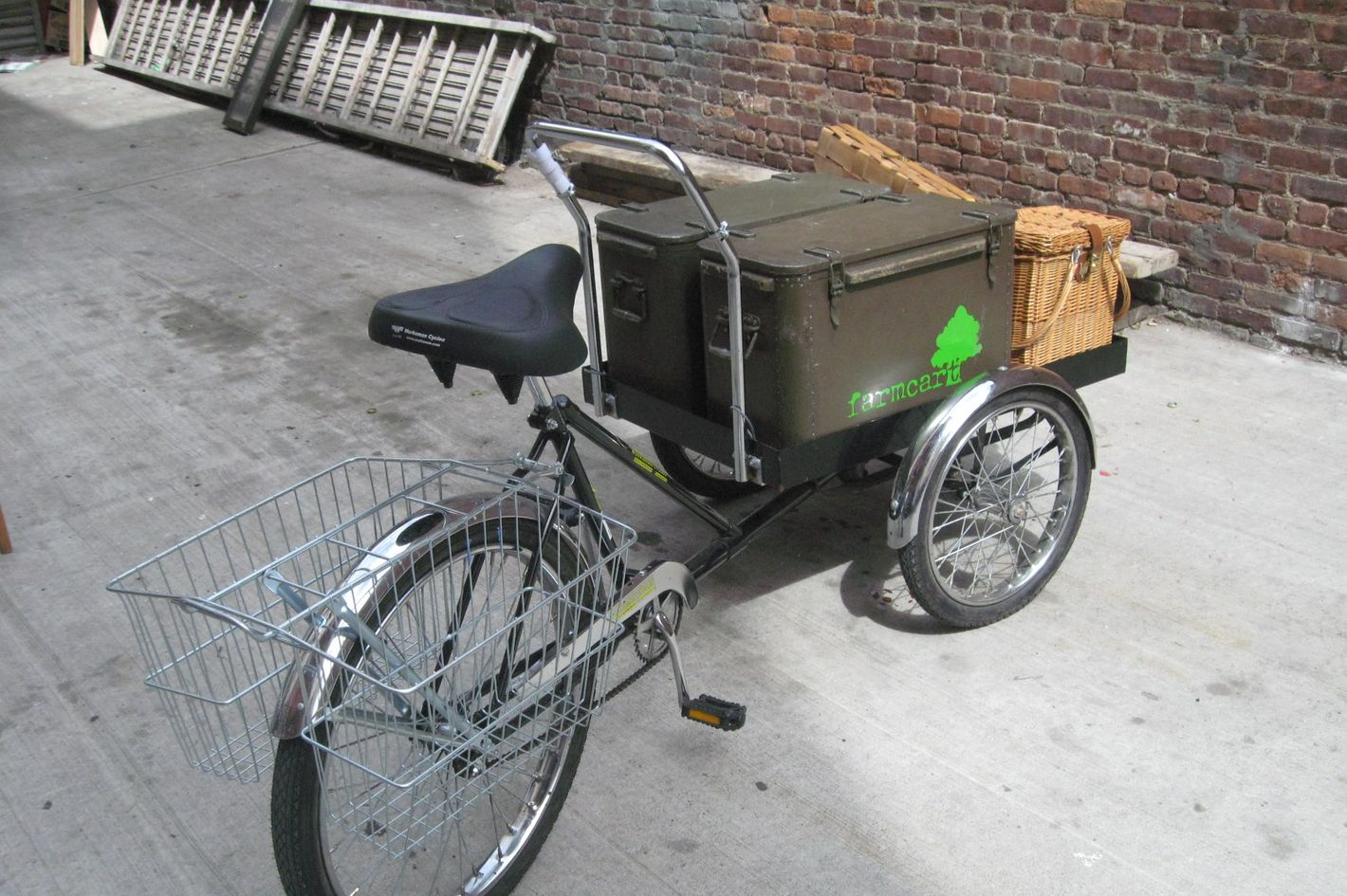 Farmcart's sandwich-delivery trike.