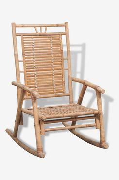 vidaXL Indoor Outdoor Bamboo Rocking Chair