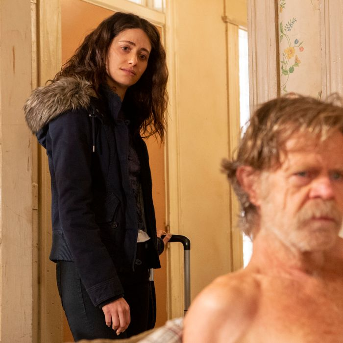 Emmy Rossum and William H. Macy in Shameless.