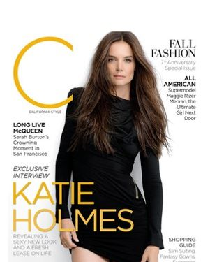 Katie Holmes, shot just one week before the Big Announcement.