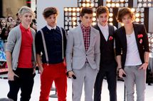 Niall Horan, Zayn Malik, Liam Payne, Harry Styles and Louis Tomlinson perform in the band One Direction on the NBC Today Show at Rockefeller Center in New York City on March 12, 2012.