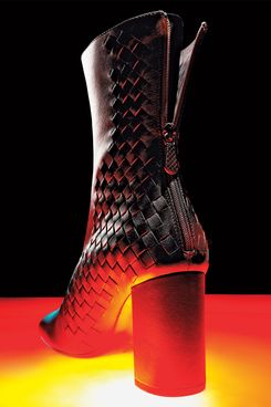 A classic block-heel boot by Bottega Veneta.
