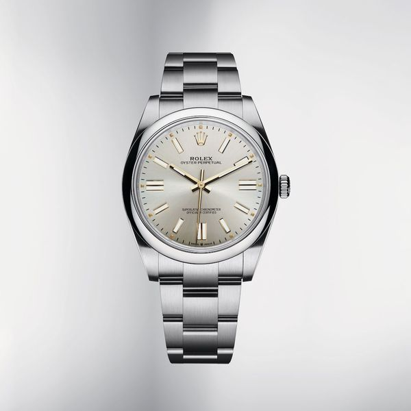 Rolex 36-mm. in Oystersteel With a Silver Dial and an Oyster Bracelet