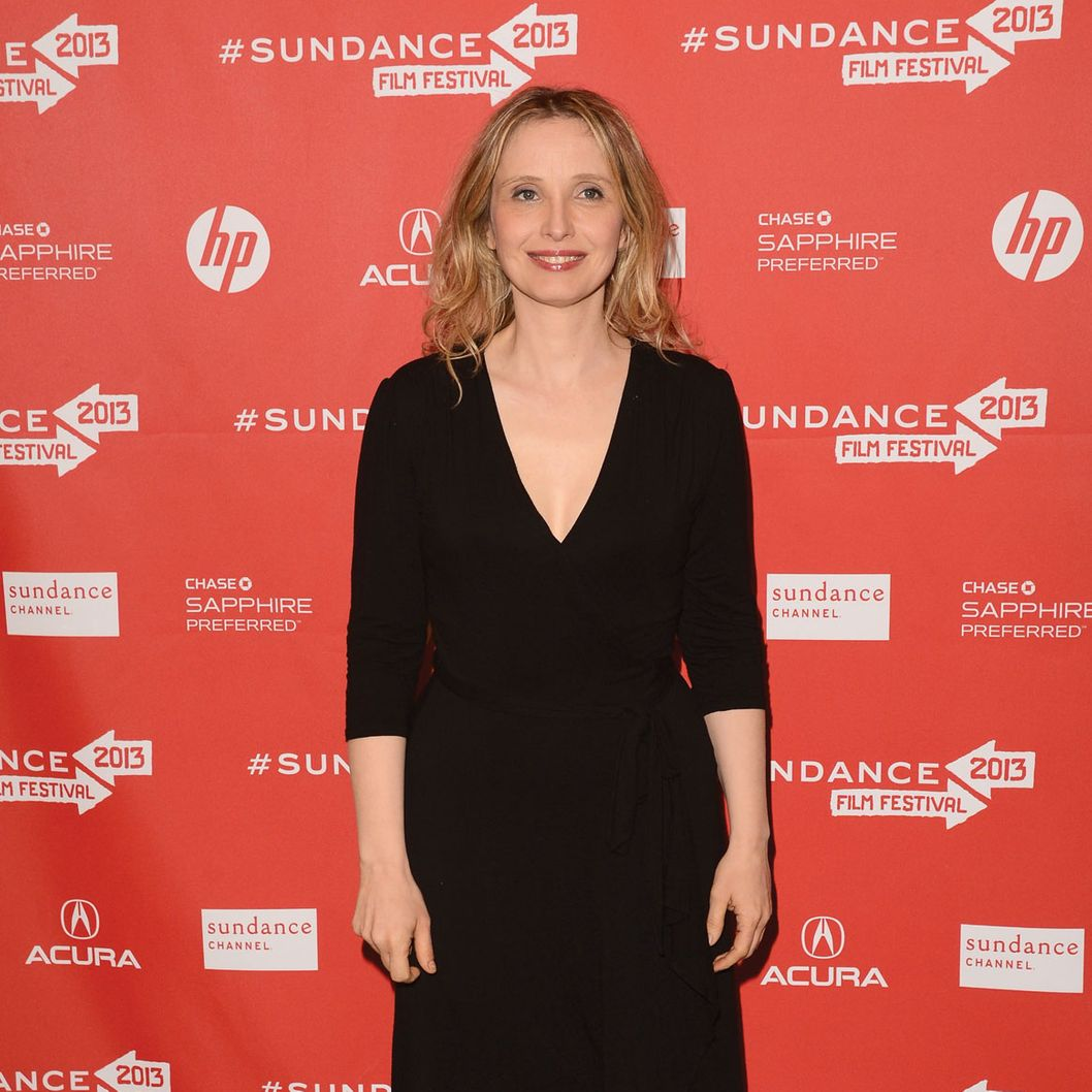 "PARK CITY, UT - JANUARY 20:  Actress Julie Delpy attends the ""Before Midnight"" premiere at Eccles Center Theatre on January 20, 2013 in Park City, Utah.  (Photo by Jason Merritt/Getty Images)"