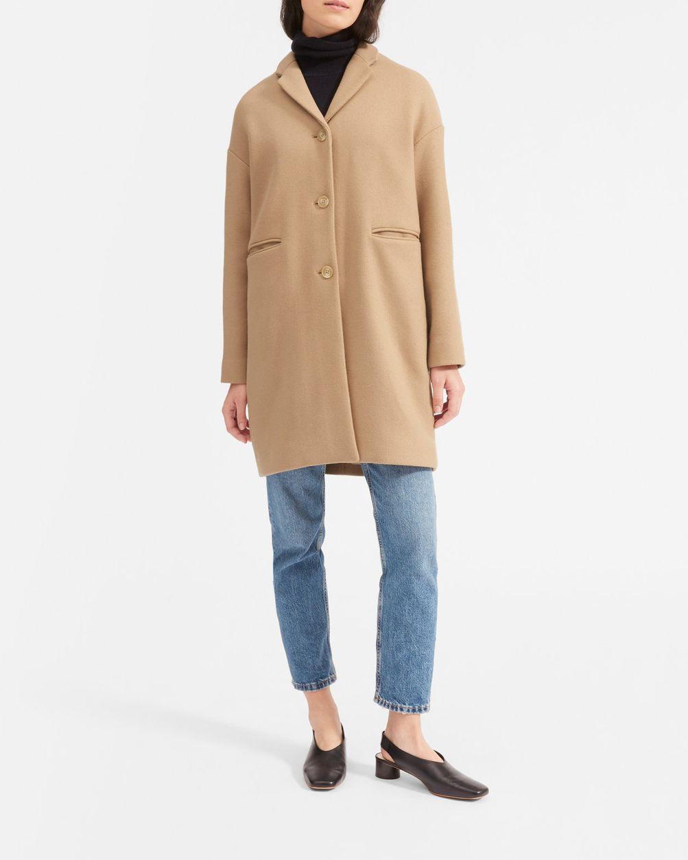 Everlane Women's Cocoon Coat, Camel