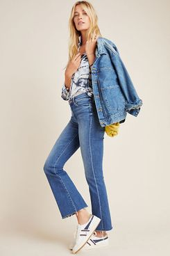 MOTHER The Weekender High-Rise Frayed Bootcut Jeans