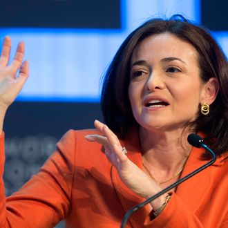 Sheryl Sandberg, Chief Operating Officer and Member of the Board of Facebook, speaks during a panel session at the 43rd Annual Meeting of the World Economic Forum (WEF) in Davos, Switzerland, 25 January 2013. The overarching theme of the meeting, which will take place from 23 to 27 January, is 'Resilient Dynamism'.