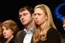 Chelsea Clinton and Marc Mezvinsky attend 2012 Clinton Global Initiative Opening Session at the Sheraton Hotel, NYC.<P>Pictured: Marjorie Margolies- Mezvinsky, Marc Mezvinsky, Chelsea Clinton<P><B>Ref: SPL439933  230912  </B><BR/>Picture by: Janet Mayer / Splash News<BR/></P><P><B>Splash News and Pictures</B><BR/>Los Angeles:	310-821-2666<BR/>New York:	212-619-2666<BR/>London:	870-934-2666<BR/>photodesk@splashnews.com<BR/></P>