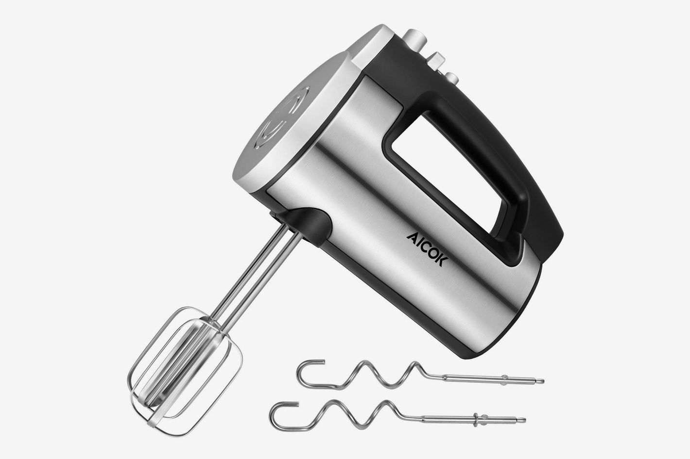 Aicok Hand Mixer 6 Speed Classic Stainless Steel Mixer Ultra Power Electric Mixer