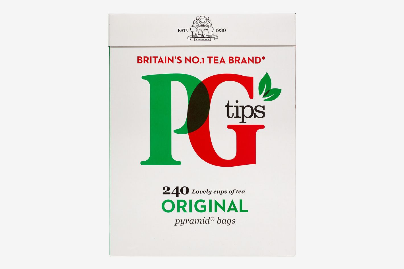 PG Tips Black Tea, Pyramid Tea Bags, 240-Count Box