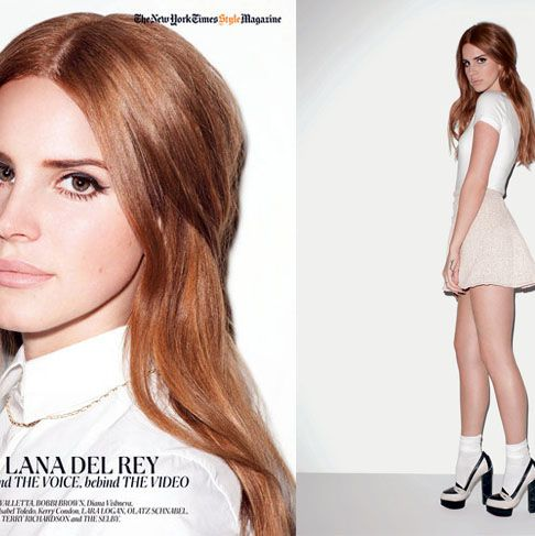Lana Del Rey, shot by Terry Richardson.