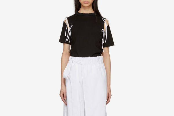 Facetasm Black & White Tie Shirt