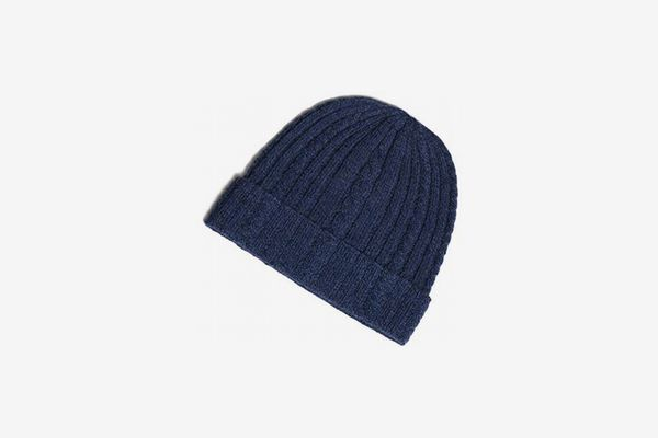 Fishers Finery Women's 100% Pure Cashmere Cable Knit Hat