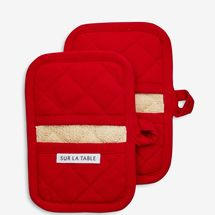 Sur La Table Red Classic Oven Mitts, Set of 2