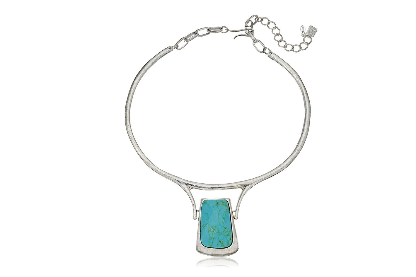 Robert Lee Morris Geometric Semiprecious Turquoise Necklace