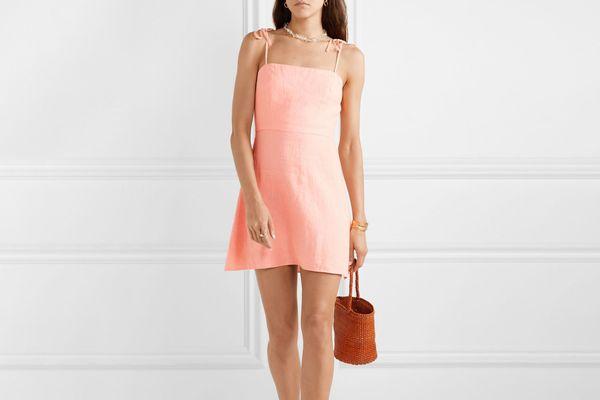 Honorine Poppy Linen Midi Dress