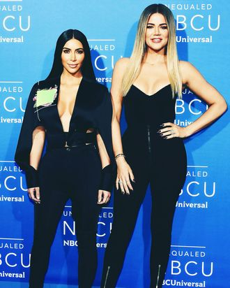 Kim Kardashian and Khloé Kardashian.