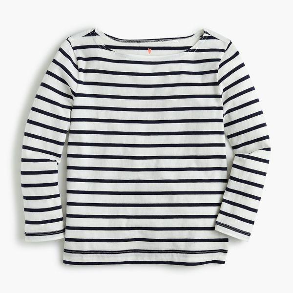 Girls' Boatneck Sailor T-shirt