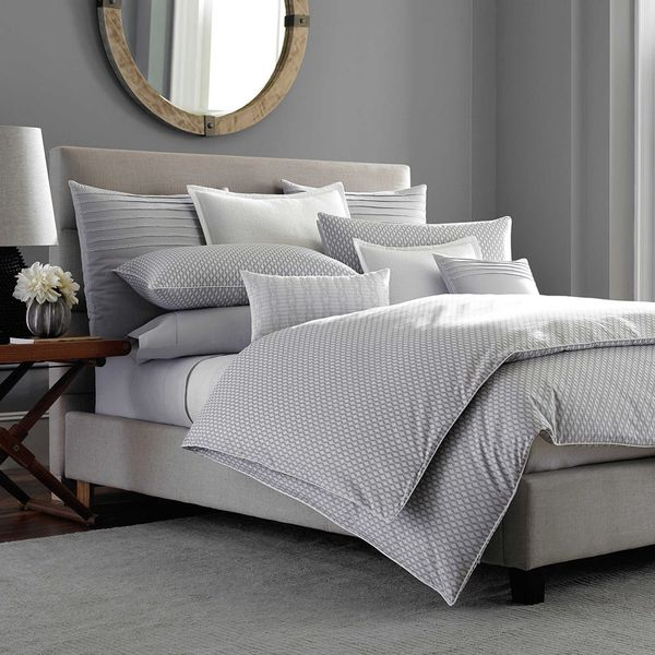 Barbara Barry Ascot Duvet Cover in Smoke