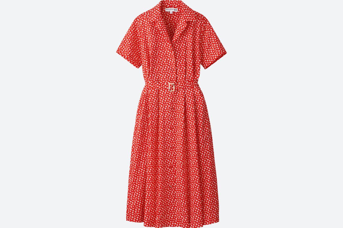 Women Cotton Lawn Tuck Short-Sleeve Dress