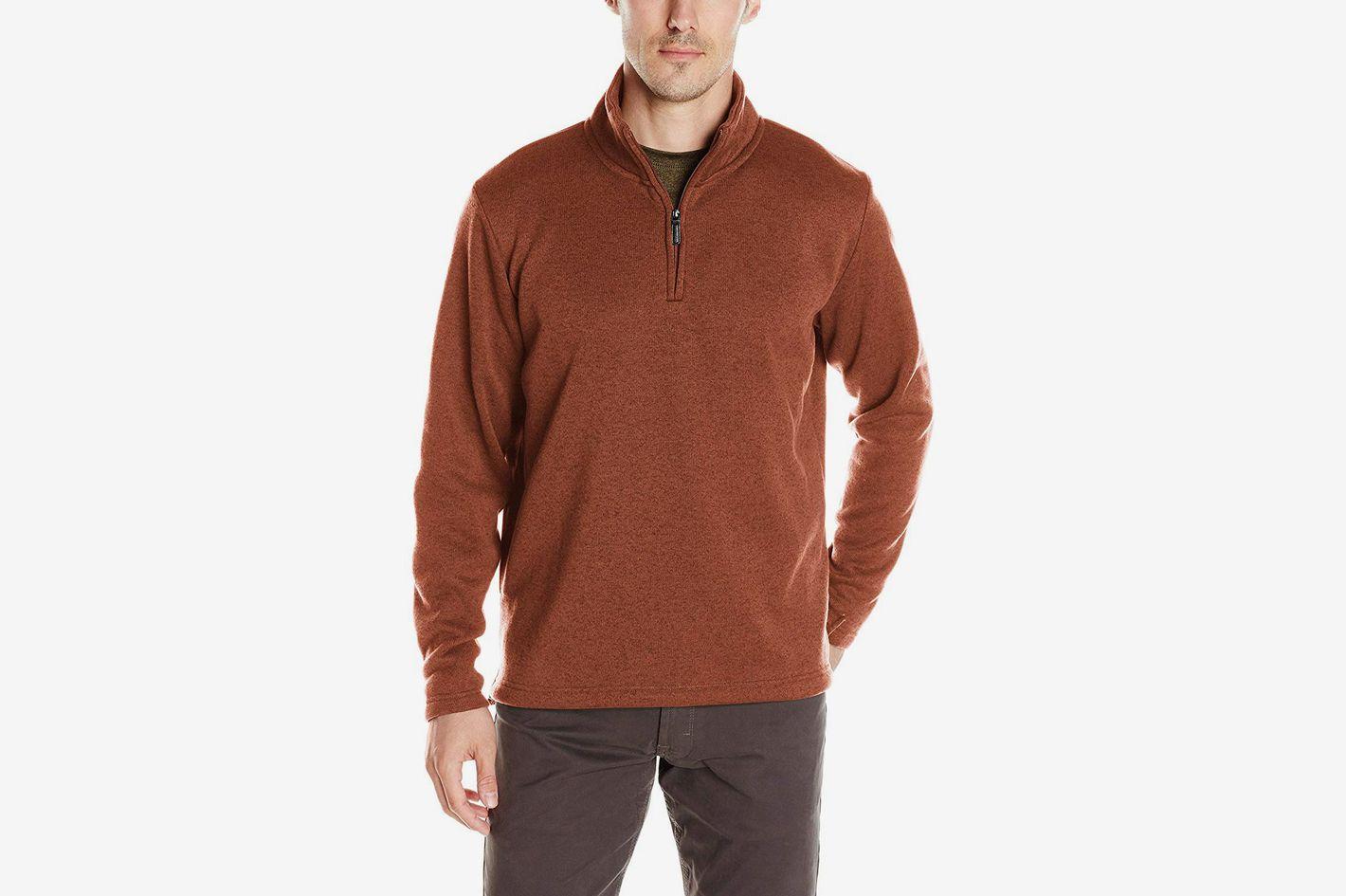 38409b7d2c65 Wrangler Authentics Men's Sweater Fleece Quarter-Zip