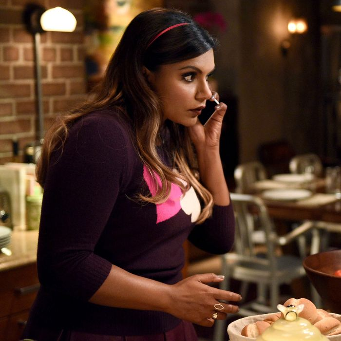 THE MINDY PROJECT: Mindy (Mindy Kaling) is nervous to host dinner for Danny's priest in the