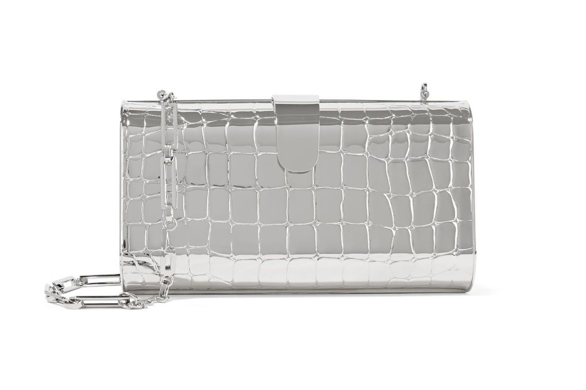 Edie Parker 'Rebekah' Embossed Metal Clutch