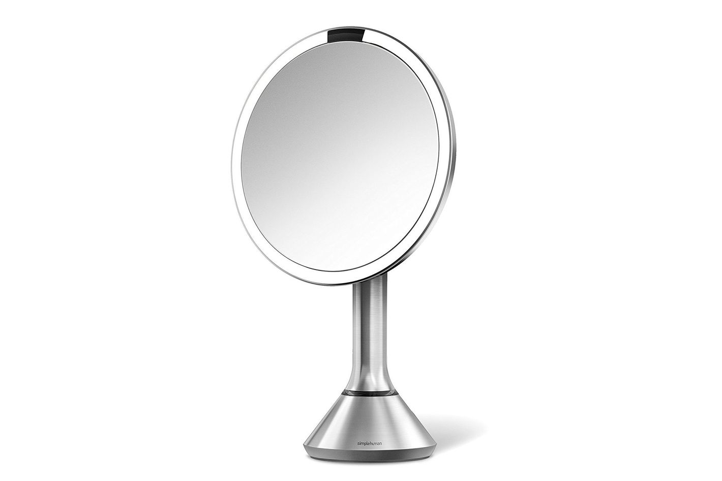 led makeup mirror. \u201cthis sleekly designed lighted makeup/vanity mirror was a gift for my wife, and she truly loves this product. i chose over many others despite led makeup