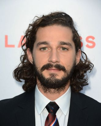 Actor Shia LaBeouf arrives at the Premiere of the Weinstein Company's