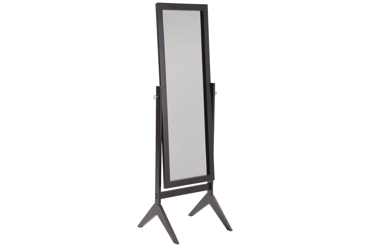 Espresso Finish NA Solid Wood Cheval Floor Standing Tilting Mirror