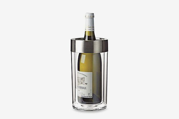 Wine Enthusiast Double-Walled Iceless Wine-Bottle Chiller Glass
