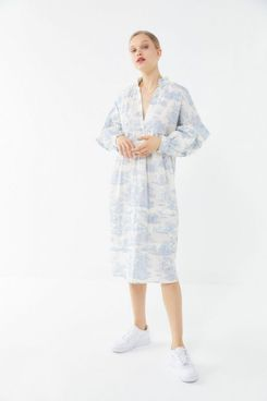 Laura Ashley UO Exclusive Amelia Toile Poplin Midi Dress