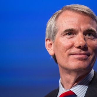 WASHINGTON, DC - MAY 15: U.S. Sen. Rob Portman (R-OH) attends the 2012 Fiscal Summit on May 15, 2012 in Washington, DC. The third annual summit, held by the Peter G. Peterson Foundation, explored the theme