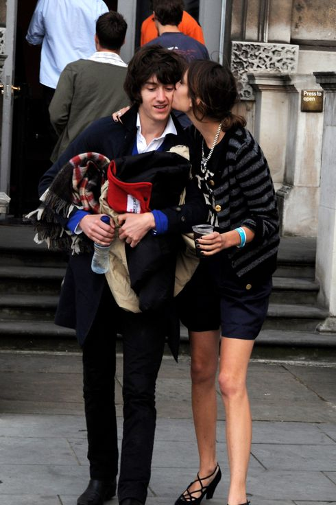 LONDON - AUGUST 04:  (EMBARGOED FOR PUBLICATION IN UK TABLOID NEWSPAPERS UNTIL 48 HOURS AFTER CREATE DATE AND TIME)  Alex Turner and Alexa Chung attend the Film4 Summer Screening of 'Leon', at Somerset House on August 4, 2008 in London, England.  (Photo by Dave M. Benett/Getty Images)