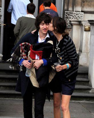 Alexa Chung and Alex Turner, in presumably happier days.