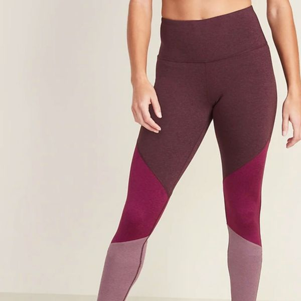 Old Navy High-Waisted Elevate Color-Blocked Compression Leggings