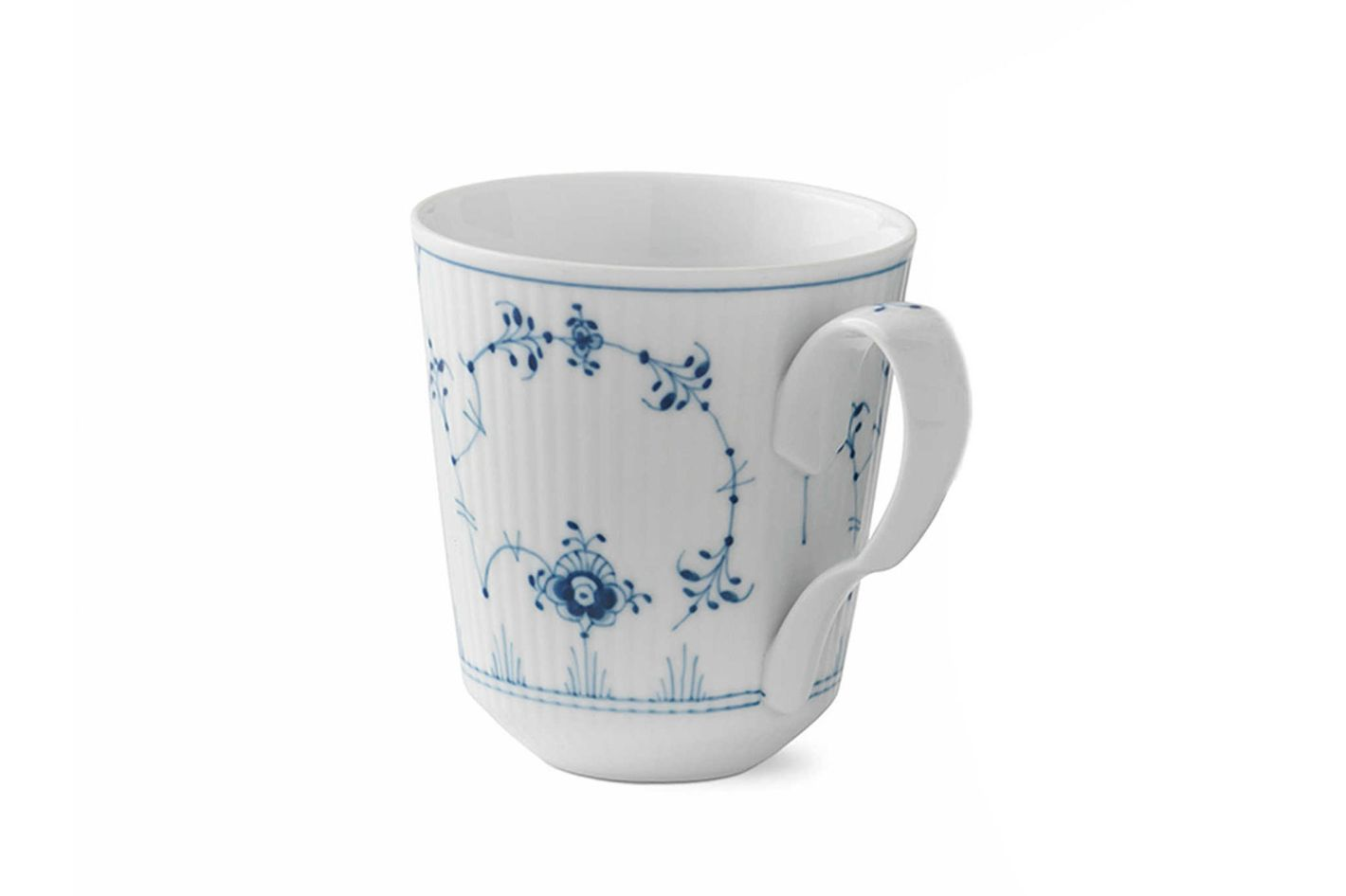 Royal Copenhagen Fluted Plain Mugs in Blue (Set of 2)