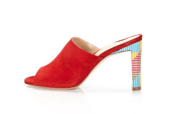 Marion Parke Louisa Slide Sandal in Classic Red