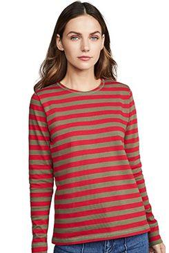 GANNI Striped Cotton Jersey Tee