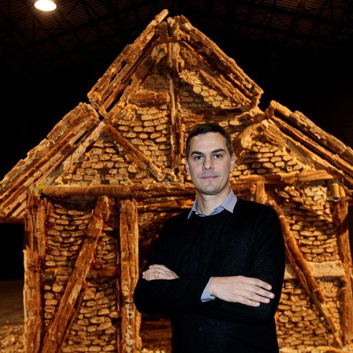 FLORENCE, ITALY - JANUARY 11: Fondazione Nicola Trussardi Artistic Director Massimiliano Gioni attends the