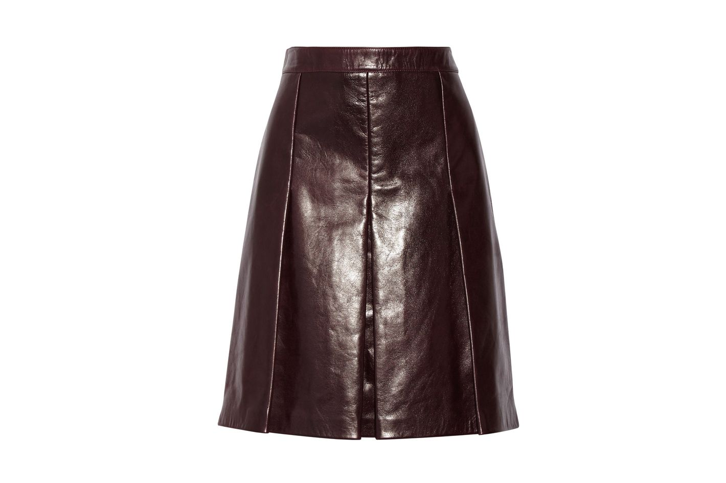 Belstaff Pleated Leather Skirt